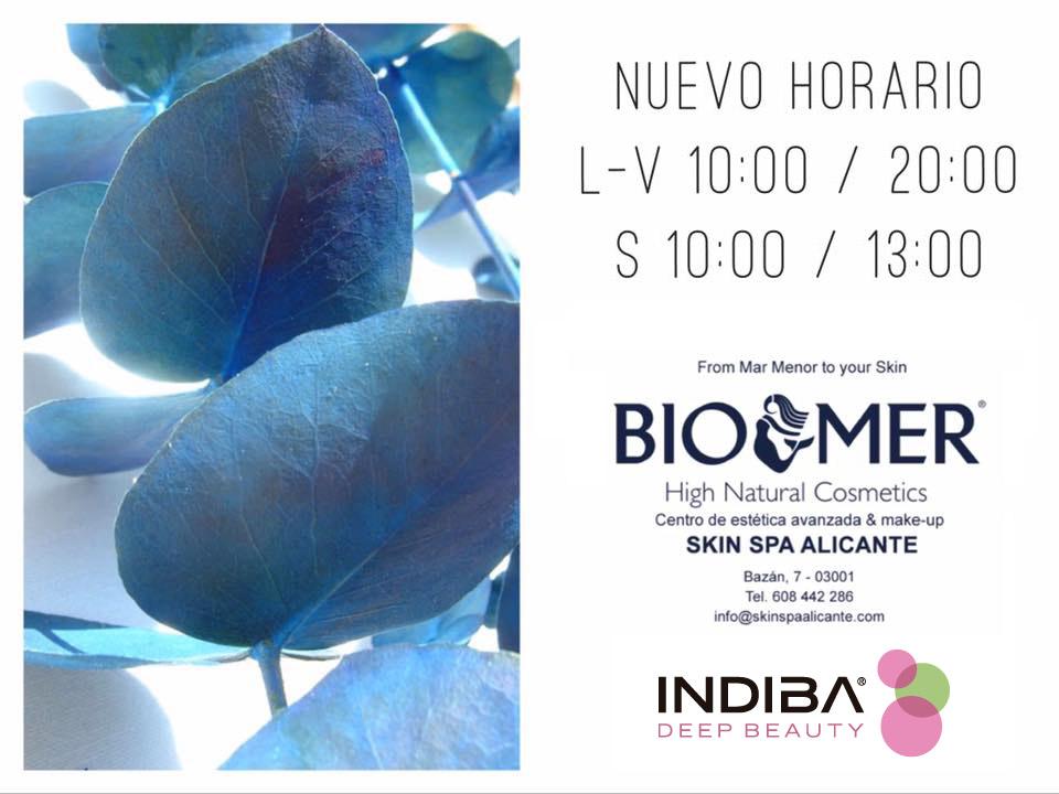 Nuevo horario Skin Spa Alicante